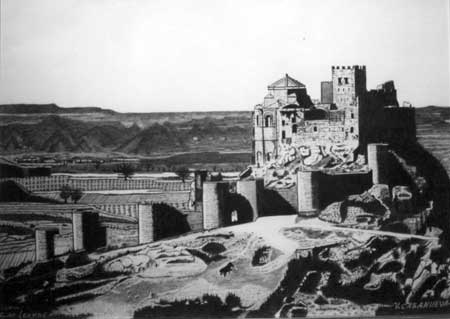 Castillo de Loarre Dibujos a lpiz Vicente Casanueva